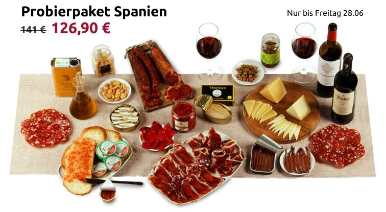 Probierpaket mit spanischen Köstlichkeiten für 5-6 Personen