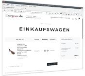 Bildschirm von Einkaufswagen IberGour